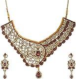 Sardarji Bentex Walley Purple Brass & Copper Necklace & Earrings Set for Women (373)