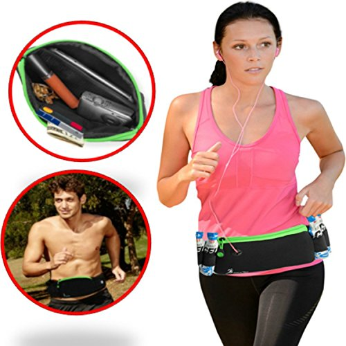 Finish It! Gear Sleek, Running Fanny Pack, iPhone 6 Plus Running Belt for Men, Women with Gel Pack Loops, No Bounce Fanny Packs for Women Cute! Running Gear Bag Holds ALL Your Gear. No Stuffing! (Working Rain Gear compare prices)