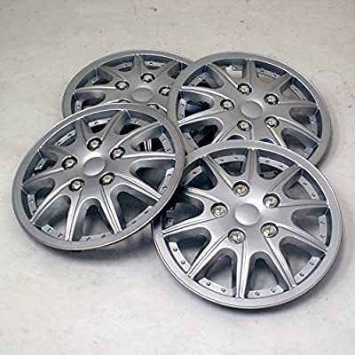 TuningPros WSC2-004S16 Hubcaps Wheel Skin Cover Type 2 16-Inches Silver Set of 4