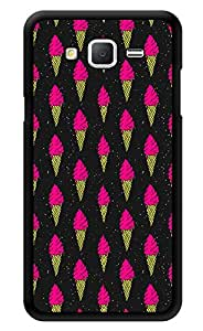 """Humor Gang Ice Cream Cone Love Neon Printed Designer Mobile Back Cover For """"Samsung Galaxy On7"""" (3D, Glossy, Premium Quality Snap On Case)"""
