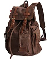 Vintage Canvas & Leather Exclusive Backpack Unisex