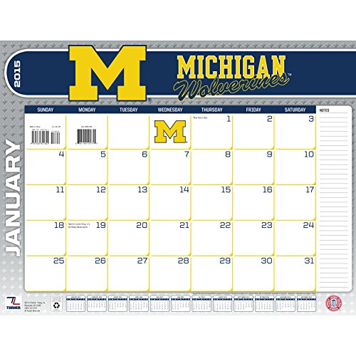 Turner Perfect Timing 2015 Michigan Wolverines Desk Calendar, 22 X 17 Inches (8061394)