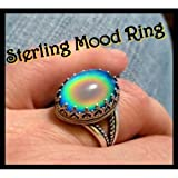 Mood Ring Sterling Silver with Vivid Fast Color Changes