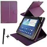 "Purple PU Leather Case Cover Stand for Samsung ATIV Tab 3 10.1"" 10.1 inch Tablet PC + Stylus Pen"