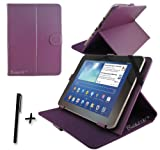 Purple PU Leather Case Cover Stand for Fujitsu Stylistic M532 10.1'' 10.1 INCH ANDROID TABLET PC