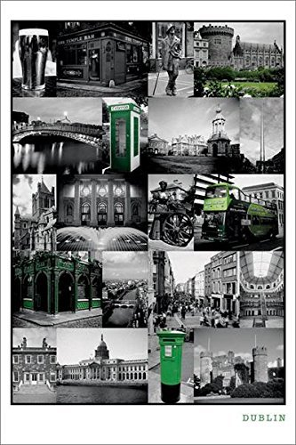Art Collage Dublin Ireland Poster Print