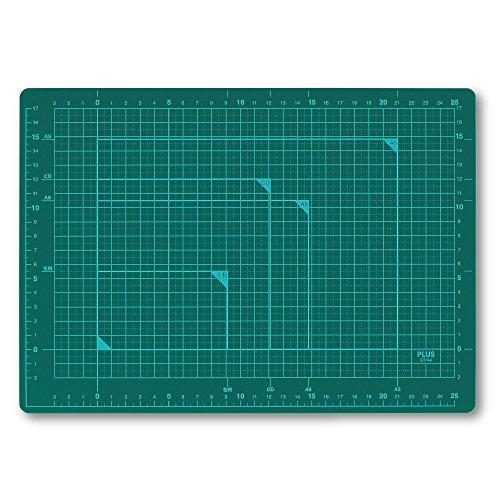 プラス カッティングマット 両面 A4 230×320mm 48-573 グリーン
