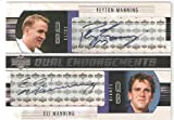 2004 Upper Deck Foundations Dual Endorsements # DEMM - Peyton Manning ( / Eli Manning (Rookie Insert) - Football Rookie Card - Serial #d to 1200 - VERY HARD