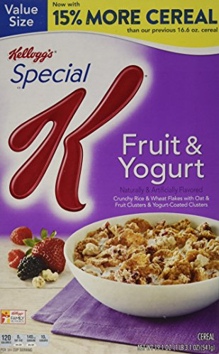 Special K Kellogg's Cereal, Fruit and Yogurt, 19.10 Ounce