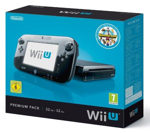 Nintendo Wii U - Konsole, Premium Pack, 32 GB, schwarz mit Nintendo Land [D2]