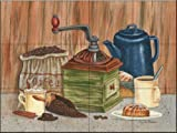 Perked Up by Mary Lou Troutman Tile Mural for Kitchen Backsplash Bathroom Wall Tile Mural