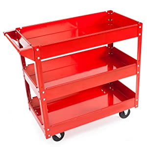TecTake TecTake Workshop tool trolley with 3 levels