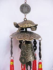 Turtle Feng Shui Wind Chime - Said to Bring Good Health and Long Life