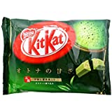 Japanese Kit Kat Matcha Green Tea Flavor   Sweetness for Adults, mini 12 pcs (Japan Import)