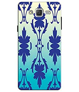EU4IA Blue Vector Floral Pattern MATTE FINISH 3D Back Cover Case For GALAXY J...