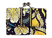 Vera Bradley Small Kisslock Wallet in Ellie Blue