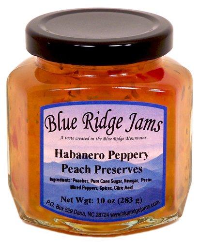 Blue Ridge Jams: Habanero Peppery Peach Preserves, Set of 3 (10 oz Jars)
