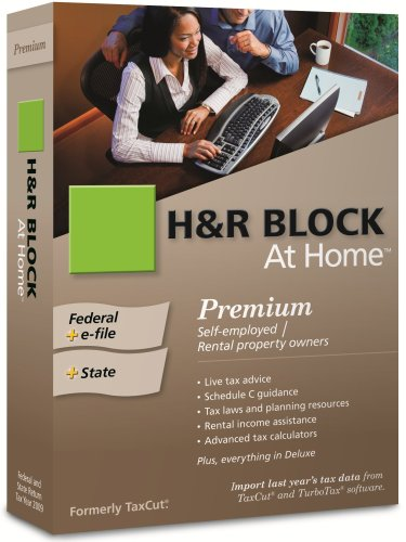 H&R Block At Home 2009 Premium Federal + State + eFile [Formerly TaxCut]