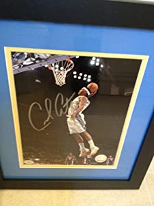 Authentic Carmelo Anthony Autograph Denver Nuggets 8x10 Photo w  Double-Matted Frame by MVP TRADING CARDS COMPANY