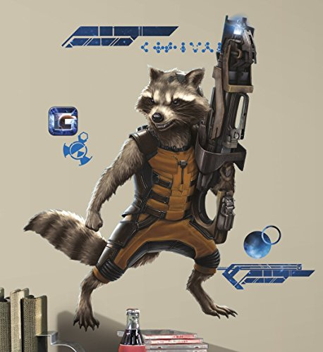 RoomMates RMK2650GM Guardians of The Galaxy Raccoon Peel and Stick Giant Wall Decals - 1