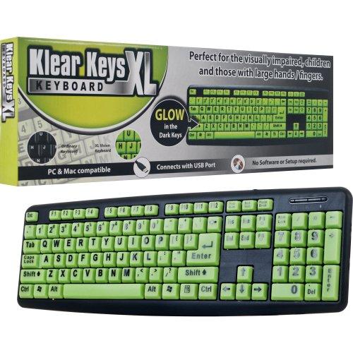 Klear Keys Xl Glow In Dark And Spill-Resistant Keyboard (72-72582)