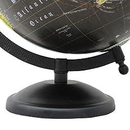 Décorative Rotating Globe Black Ocean World Geography Earth Home Décor 8\