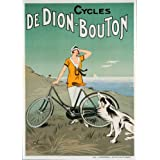 BICYCLETTE DE DION BOUTON c1925 Vintage Sur Format A3 Papiers Brillants de 250 g. Reproduction d'affiche