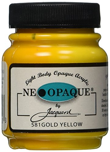 Jacquard Products 2-1/4-Ounce Neopaque Acrylic Paint, Gold Yellow (Yellow Gold Paint compare prices)