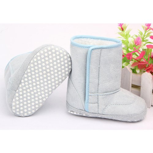 HuaYang Baby Infant Toddler Soft Warm Snow Boots Winter Fur Shoes(Blue: L)