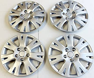 "16"" Set Of 4 Hubcaps Fit 2009 - 2010 Mazda 6 Wheel Covers Design Are Universal Hub Caps Fit Most 16 Inch Wheels"