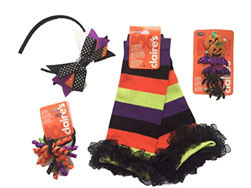 Halloween Costume Leg Warmers and Accessories Bundle