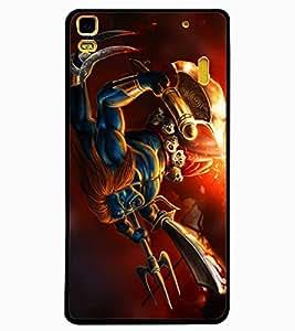 ColourCraft Lord Shiva Design Back Case Cover for LENOVO A7000
