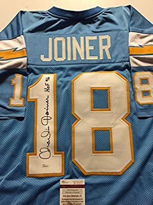 "Autographed/Signed Charlie Joiner ""HOF 96"" San Diego Chargers Powder Blue Football Jersey JSA COA"