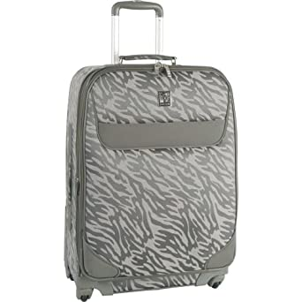 Anne Klein Luggage Lions Mane Spinner Carry-On Suitcase, Gray/Silver, One Size