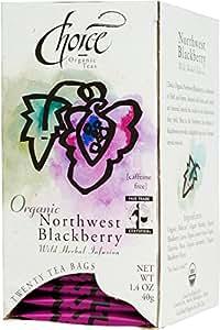 Choice Organic Northwest Blackberry Tea, 20-Count Box (Pack of 6)