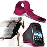 ( Hot Pink ) Nokia C7 Sports Running Jogging Ridding Bike Cycling Gym Arm Band Case Pouch Cover By ONX3