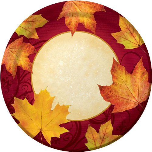 Creative Converting Autumns Gift Round Banquet Plates 8 Count