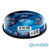 "10 QUVIDO BD-R 25GB 4x Full Printable in Spindel // RiTEKvon ""QUVIDO"""