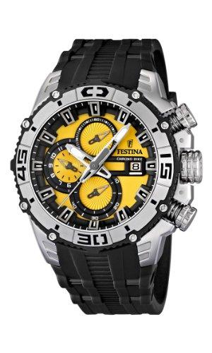 Festina 16600/5 - Reloj cronógrafo de cuarzo para hombre con correa de plástico, color negro