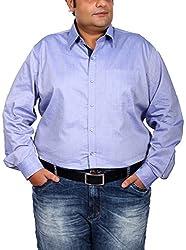 Xmex Men's Cotton Silk Regular Fit Shirt (KR-264LITBLUE_4XL, Blue, 4X-Large)