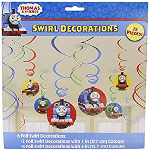Thomas the Tank Hanging Swirl Value Pack (Multi-colored) Party Accessory