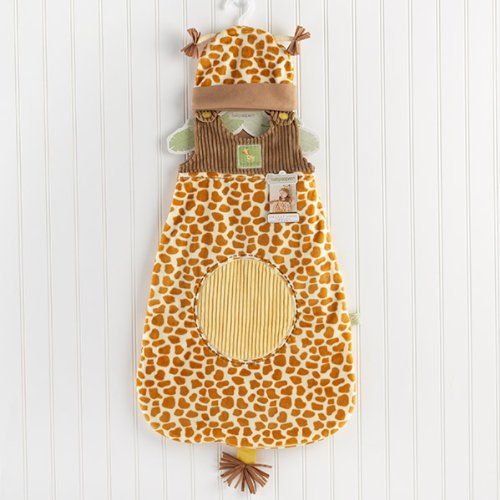 Baby Aspen Born To Be Snuggle Sack and Hat, Wild Giraffe