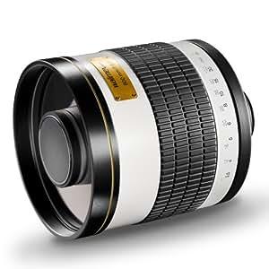 Walimex Pro 800mm 1:8,0 DSLR-Spiegelobjektiv (Filtergewinde 35mm) für Canon FD Objektivbajonett weiß
