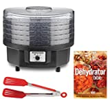 Waring Pro DHR30 Professional Dehydrator with The Dehydrator Bible and 8-inch Nylon Flipper Tongs