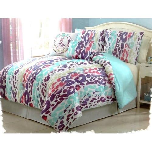 Girls Kids Bedding Ashley Leopard Multi