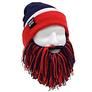 NFL New York Giants Beanie with Barbarian Beard, Blue Red by Beard Head