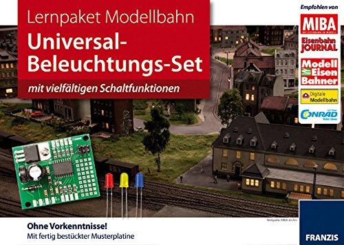 Nach oben Lernpaket: Modellbahn (Modell-Eisenbahn): Universal Beleuchtungs-Set mit vielfältigen Schaltfunktionen