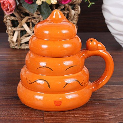 ZIMEI Immagini Creative merda divertente divertenti in ceramica tazza divertente scherzo i regali di compleanno con gaimake Cup 350ml (cioccolato) , 2 set , small