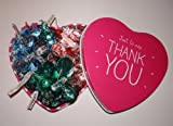 Thank you american Hershey mixed kisses pink heart tin