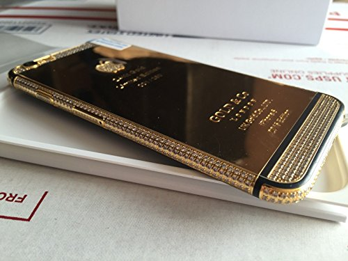 BS2U discount duty free Apple iPhone 6 - 64GB - 24K Gold Plated Diamond Crystals Black Stripe/Customized Design/Factory Unlocked/International